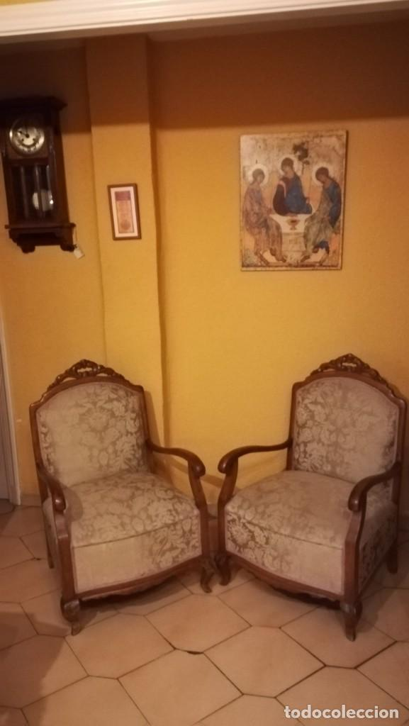 Antigüedades: PAREJA DE BUTACAS, SILLONES, DESCALZADORAS. - Foto 2 - 144213466
