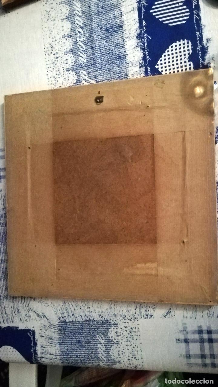 Antigüedades: PRECIOSO CUADRO CON 4 LADRILLOS DE CERAMICA ILUSTRADOS -CAMPESINOS VALENCIANOS -de SOROLLA - Foto 3 - 144226314