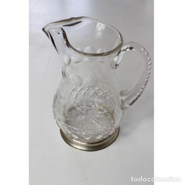 ANTIGUA JARRA DE CRISTAL DE BOHEMIA TALLADO (Antigüedades - Cristal y Vidrio - Bohemia)