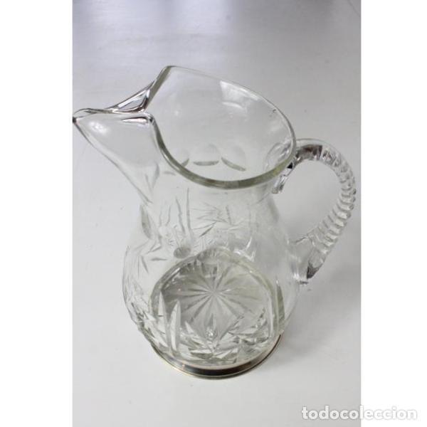 Antigüedades: Antigua jarra de cristal de bohemia y plata - Foto 2 - 144237142