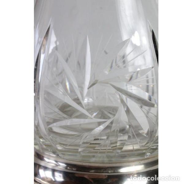 Antigüedades: Antigua jarra de cristal de bohemia y plata - Foto 6 - 144237142