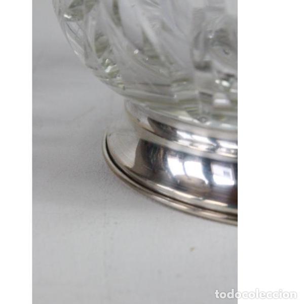 Antigüedades: Antigua jarra de cristal de bohemia y plata - Foto 7 - 144237142