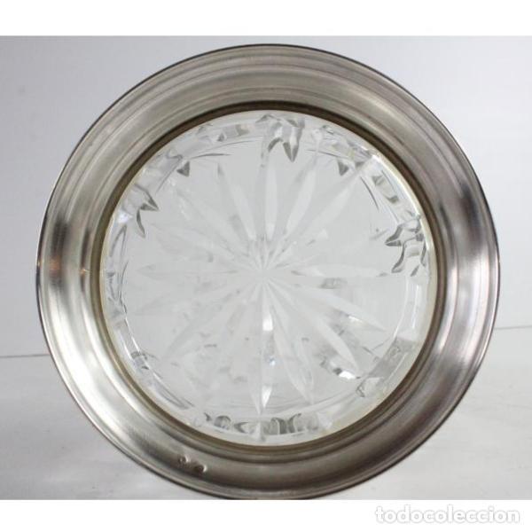 Antigüedades: Antigua jarra de cristal de bohemia y plata - Foto 9 - 144237142