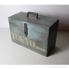Antigüedades: ANTIGUO BAÚL DE MADERA TOKIO 1940. Lote 144239842