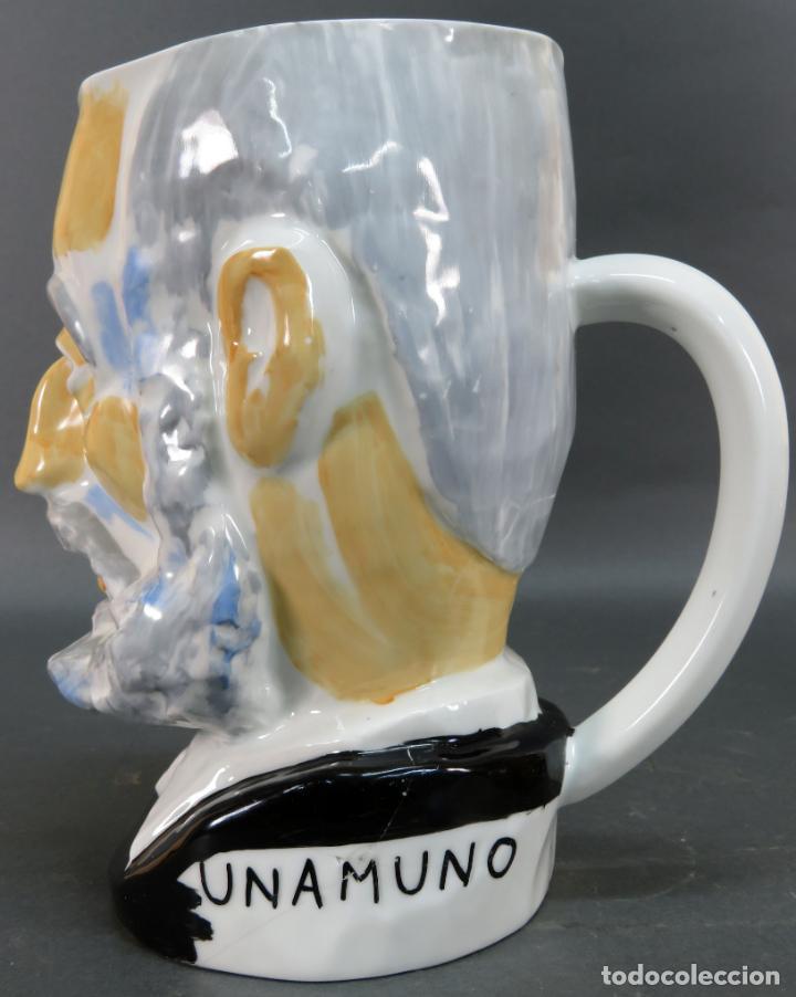 Antigüedades: Cabeza Miguel de Unamuno en cerámica Castro Sargadelos Seoane serie limitada N 15 - Foto 2 - 144243534