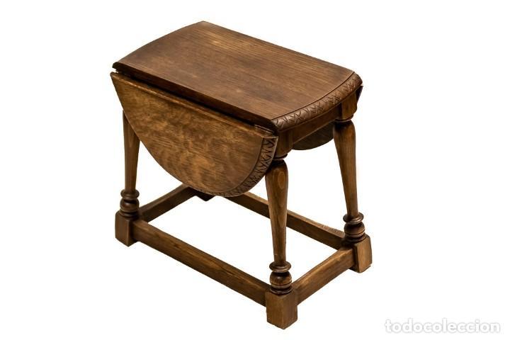 Antigüedades: ESTUPENDA MESA INGLESA, DE ALAS, PLEGABLE, EN EXCELENTE ESTADO - Foto 4 - 144244166