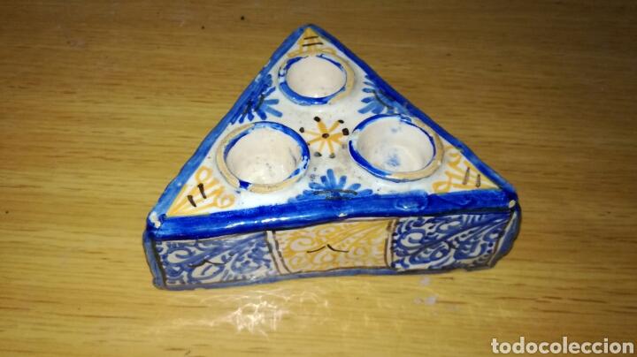 TINTERO DE CERÁMICA DE TALAVERA (Antigüedades - Porcelanas y Cerámicas - Talavera)