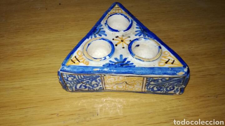 Antigüedades: Tintero de cerámica de talavera - Foto 2 - 144252893