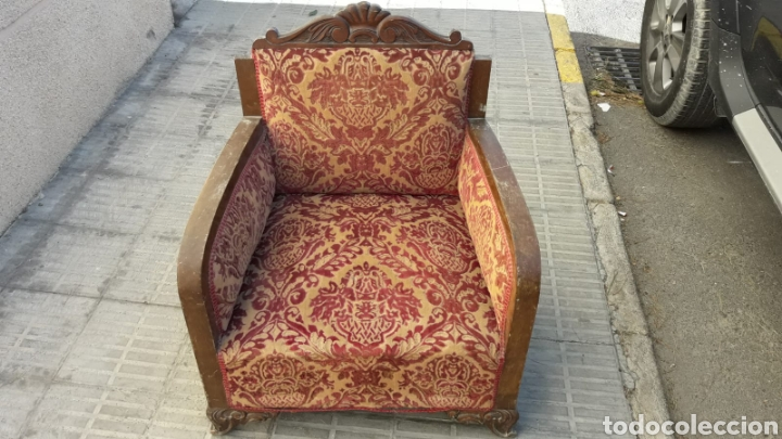 Antigüedades: Butacas antiguas sillones. - Foto 2 - 144257726