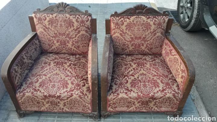 Antigüedades: Butacas antiguas sillones. - Foto 3 - 144257726