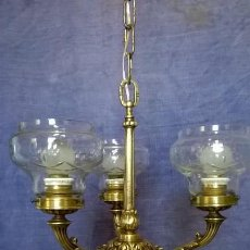Antigüedades: LAMPARA ANTIGUA.DE BROCE.ESTILO IMPERIO.E. Lote 144272094