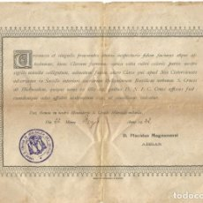 Antigüedades: MONASTERIO DE LA SANTA CRUZ DE JERUSALEM 1922 ABBAS S CRUCIS IN JERUSALEN ORDEN CISTERCIENSE . Lote 144285530