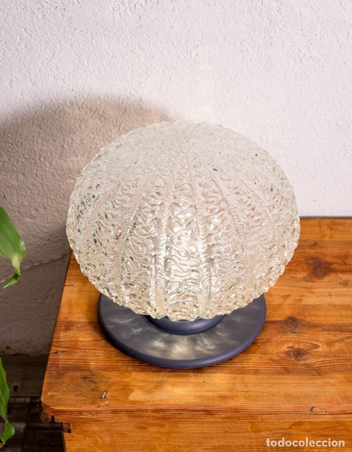 Antigüedades: Lámpara Globo De Sobremesa Antigua - Foto 2 - 144309306