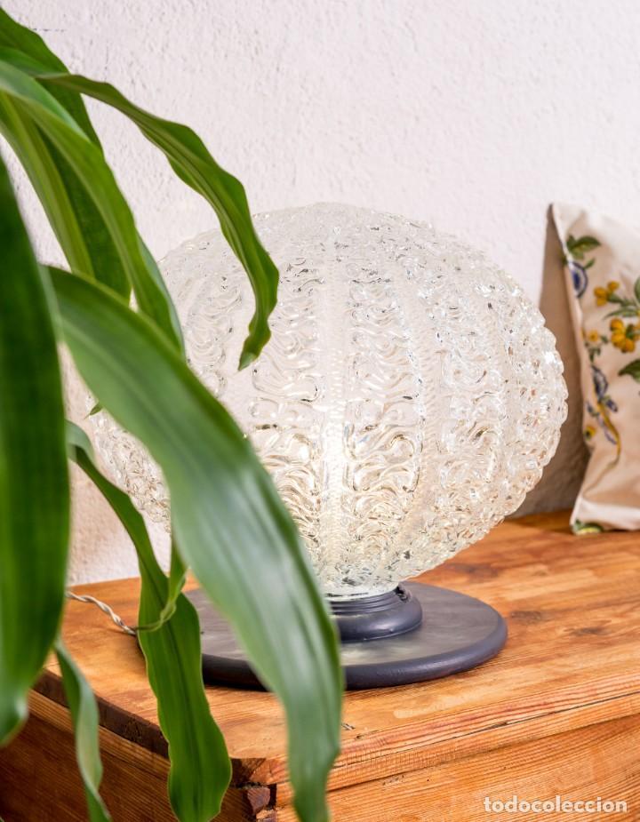 Antigüedades: Lámpara Globo De Sobremesa Antigua - Foto 3 - 144309306