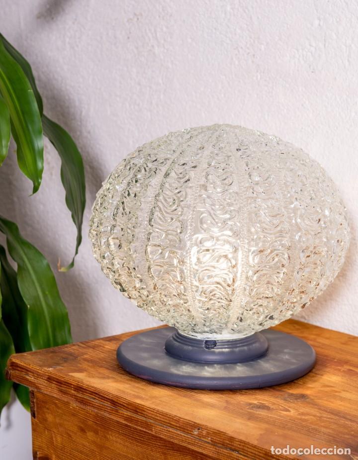 Antigüedades: Lámpara Globo De Sobremesa Antigua - Foto 4 - 144309306
