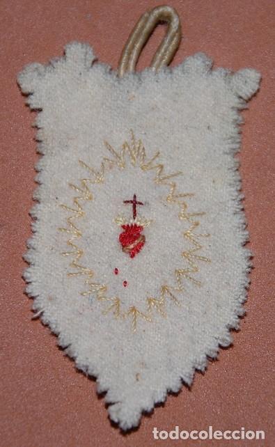 DETENTE CORAZON DE JESUS SIGLO XIX GUERRAS CARLISTAS-02 (Antigüedades - Religiosas - Escapularios Antiguos)