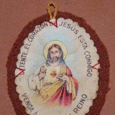 Antigüedades: DETENTE CORAZON DE JESUS AÑOS 20 DEL SIGLO XX-7. Lote 144317858