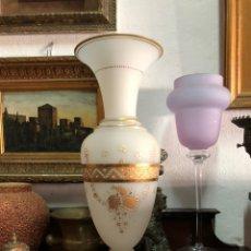 Antigüedades: JARRON DE OPALINA. Lote 144331622
