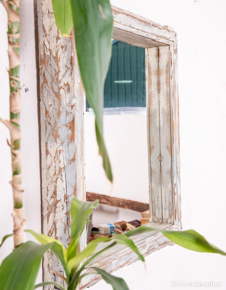 Antigüedades: Espejo Antiguo Restaurado Mathias - Foto 3 - 144338774