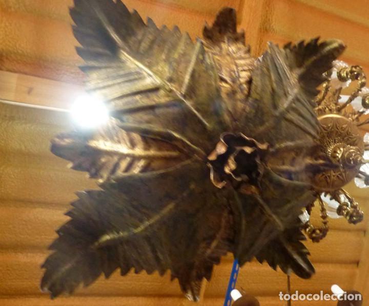 LAMPARA METALICA TIPO SOL (Antigüedades - Iluminación - Lámparas Antiguas)