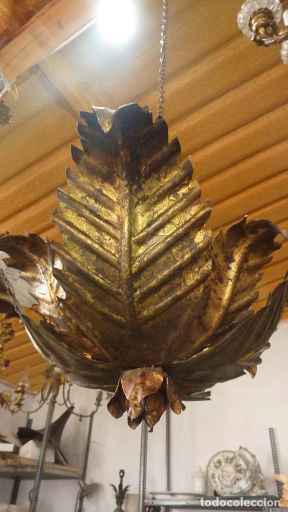Antigüedades: LAMPARA METALICA TIPO SOL - Foto 3 - 144355354