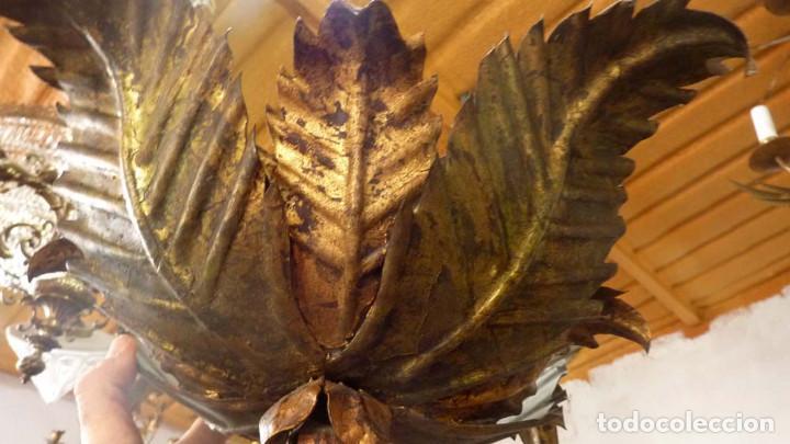 Antigüedades: LAMPARA METALICA TIPO SOL - Foto 5 - 144355354