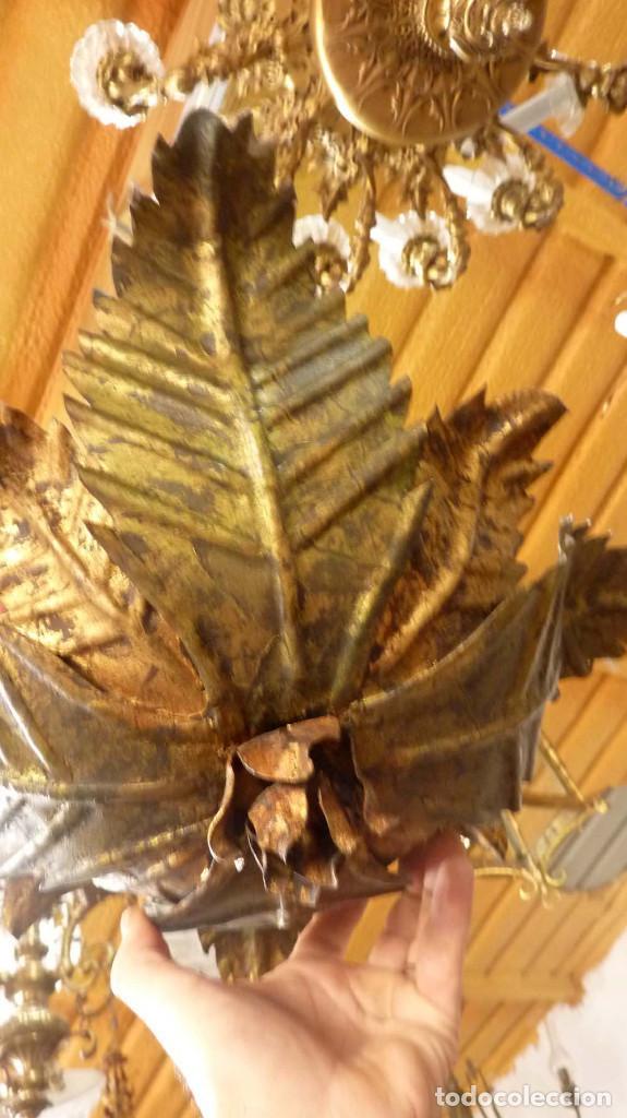 Antigüedades: LAMPARA METALICA TIPO SOL - Foto 6 - 144355354