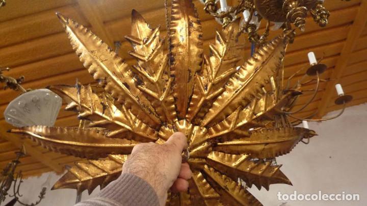 Antigüedades: LAMPARA METALICA TIPO SOL - Foto 3 - 144355426
