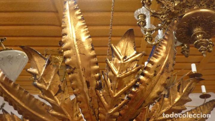 Antigüedades: LAMPARA METALICA TIPO SOL - Foto 4 - 144355426
