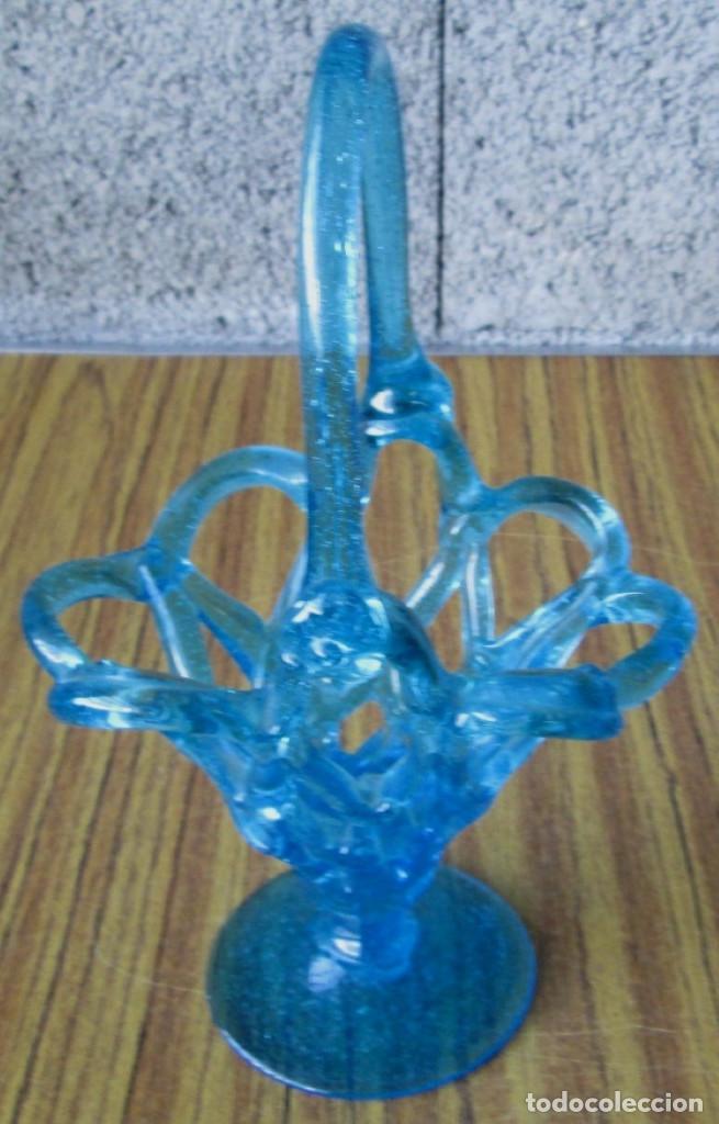Antigüedades: CESTA de cristal - Foto 2 - 144356970