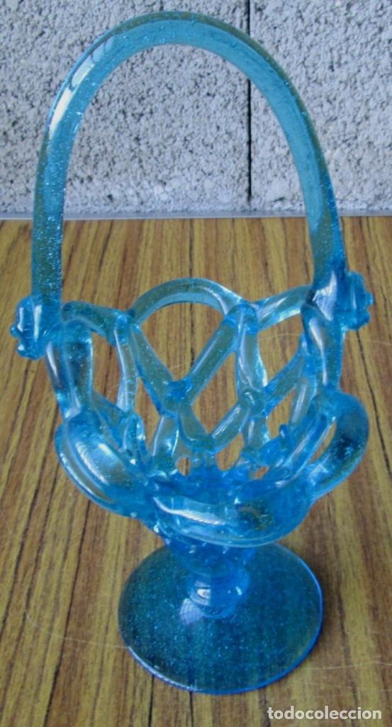 Antigüedades: CESTA de cristal - Foto 3 - 144356970