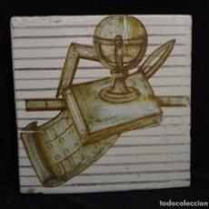 Antigüedades: AZULEJO GRANDE MANISES, SIGLO XVIII. Lote 144396710