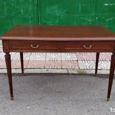 Antigüedades - Escritorio antiguo estilo luis XVI. Mesa antigua estilo Luis XVI. Mesa escritorio estilo rústico. - 144402366