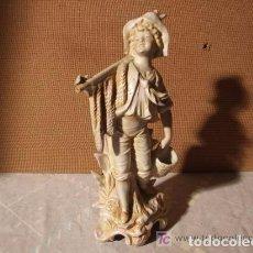 Antigüedades: NIÑO DE BISCUIT DE PORCELANA. Lote 144406314