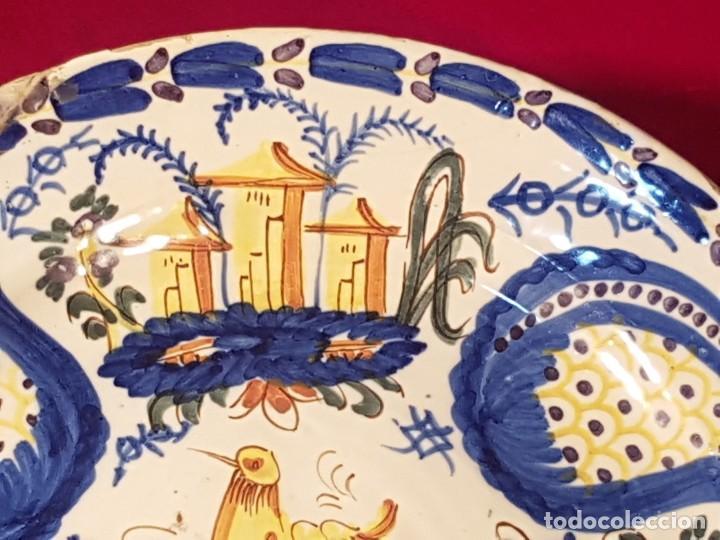 Antigüedades: Plato cerámica Manises siglo XIX - Foto 2 - 144445398