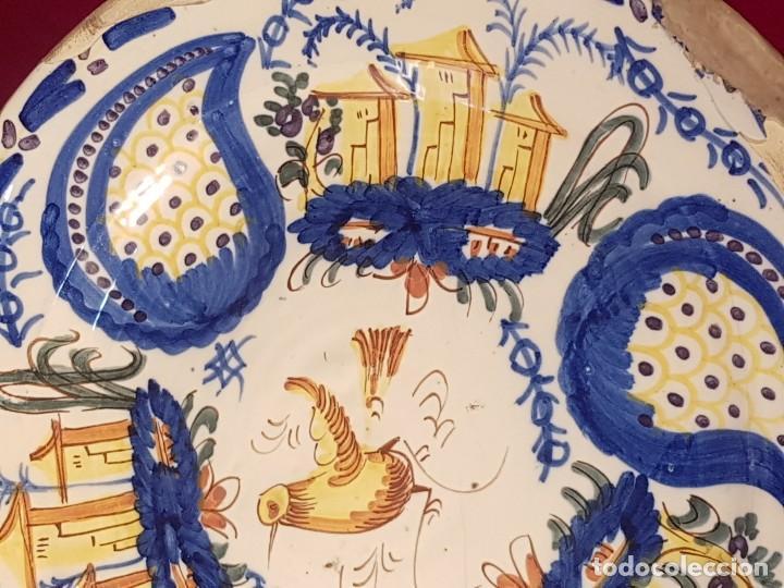 Antigüedades: Plato cerámica Manises siglo XIX - Foto 3 - 144445398