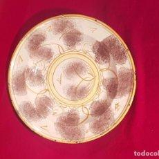 Antigüedades: PLATO CERÁMICA MANISES SIGLO XIX. Lote 144446954