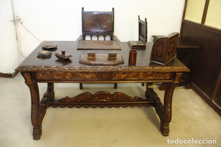 EXPLÉNDIDA MESA DE DESPACHO (Antigüedades - Muebles Antiguos - Mesas de Despacho Antiguos)