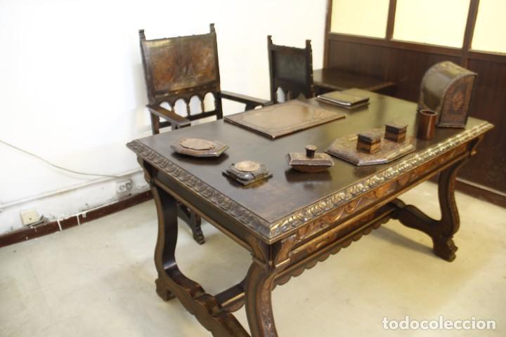 Antigüedades: Expléndida mesa de despacho - Foto 2 - 144453398