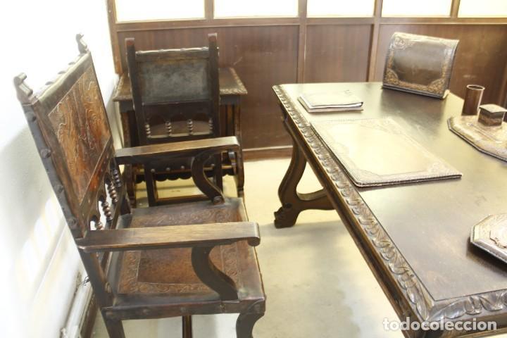 Antigüedades: Expléndida mesa de despacho - Foto 3 - 144453398