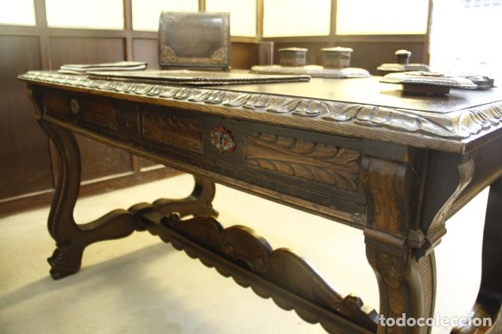 Antigüedades: Expléndida mesa de despacho - Foto 9 - 144453398