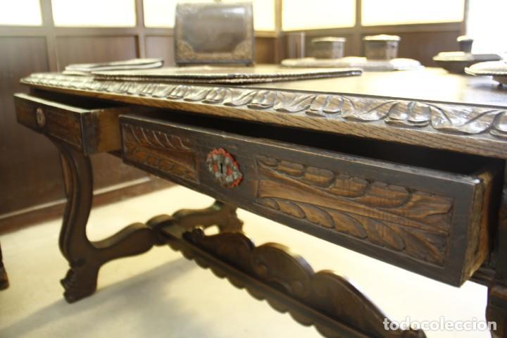 Antigüedades: Expléndida mesa de despacho - Foto 10 - 144453398