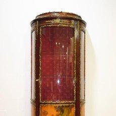 Antigüedades: ANTIGUA VITRINA LUIS XV ESCENAS PAISAJÍSTICAS. Lote 144453946