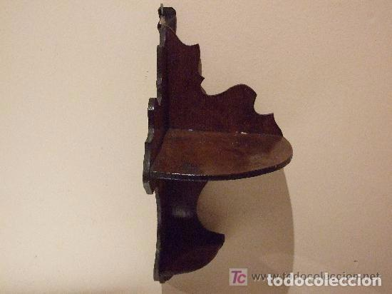 Antigüedades: REPISA RINCONERA DE CAOBA - Foto 3 - 144457206