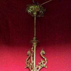 Antigüedades: LAMPARA GLOBO MODERNISTA BRONCE. Lote 144461834