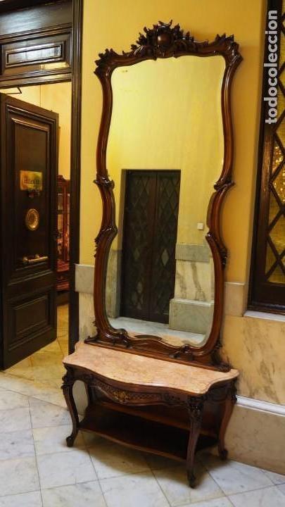 MUEBLE RECIBIDOR MODERNISTA (Antigüedades - Muebles Antiguos - Aparadores Antiguos)