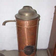 Antigüedades: ESTUFA DE COBRE. Lote 144475034