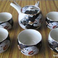 Antigüedades: JUEGO DE TE -- DE PORCELANA CHINA . Lote 144484826