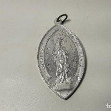 Antigüedades: ANTIGUA GRAN MEDALLA ALUMINIO, VIRGEN, CONGREGACION HIJAS DE MARIA, MED. 3,2X5,5 CM. . Lote 144493758