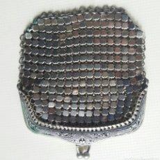 Antigüedades: MONEDERO DE METAL PLATEADO. Lote 144498550